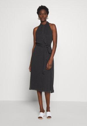 PUSSY BOW SPOT MIDI - Day dress - black