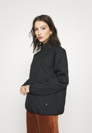 QUILTED V MOCK  - Lehká bunda - black