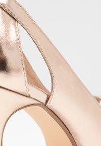 Anna Field - Høye hæler med åpen front - rose gold - 2