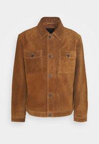 ADLER JACKET - Leather jacket - camel