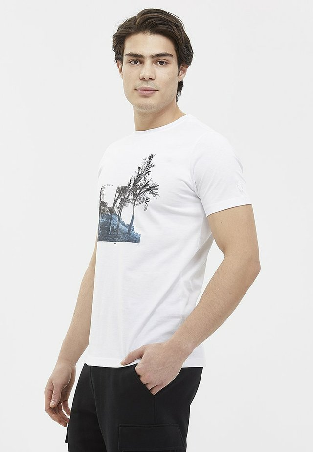 NATURE - T-shirt print - white