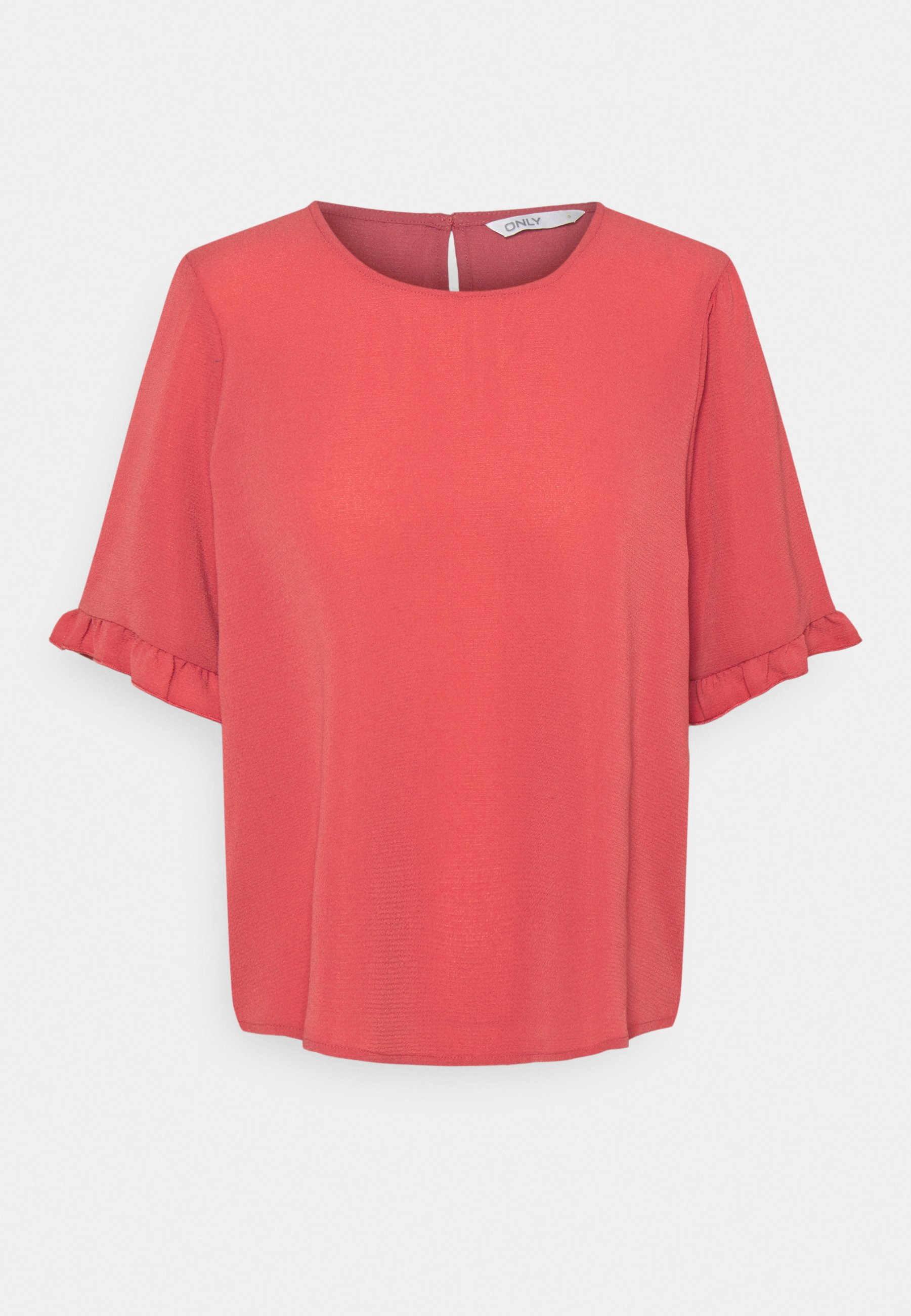 Women ONLNOVA LUX FRILL SOLID  - Basic T-shirt