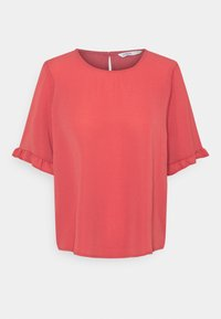 ONLY - ONLNOVA LUX FRILL SOLID  - T-shirt basic - baroque rose - 0