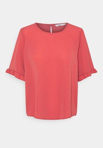 ONLNOVA LUX FRILL SOLID  - T-shirts - baroque rose