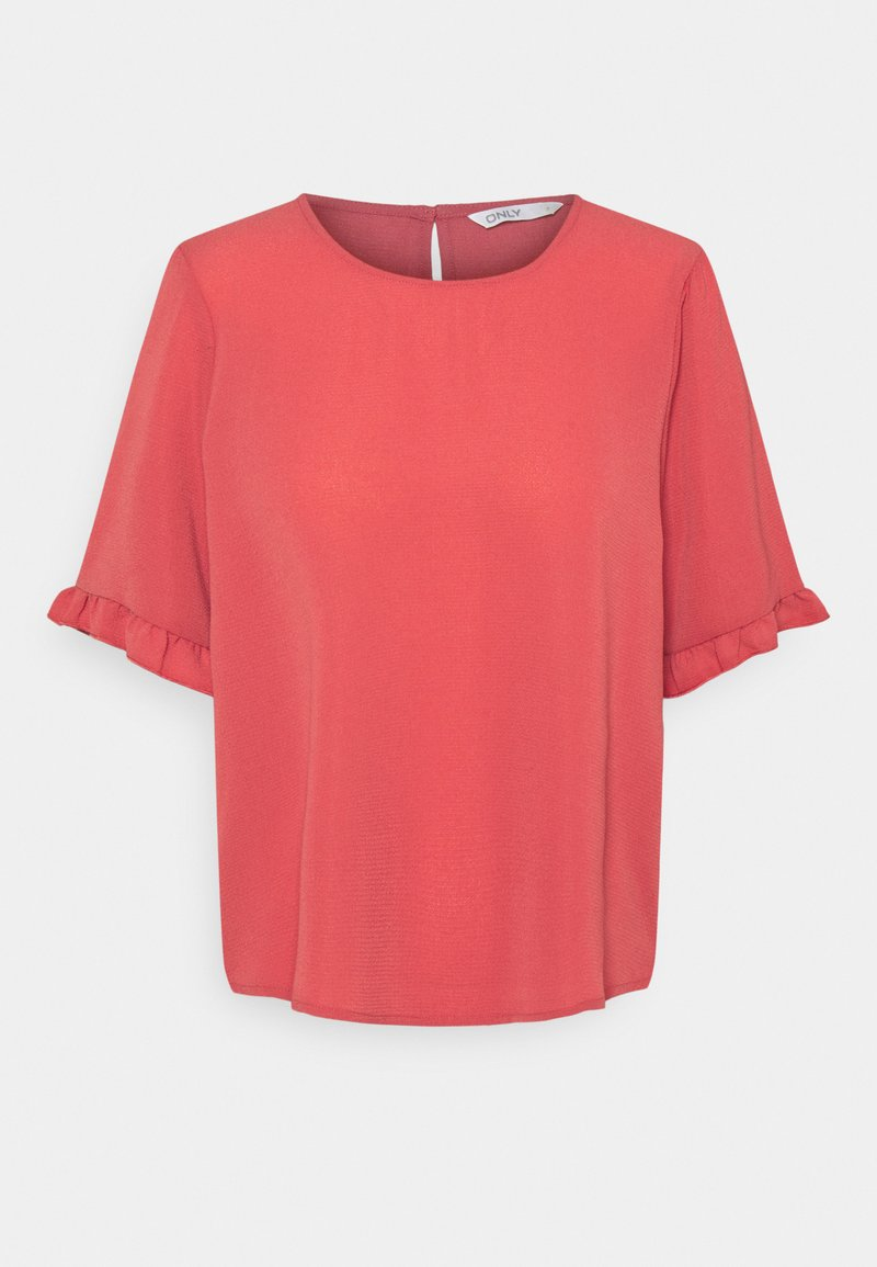 ONLY - ONLNOVA LUX FRILL SOLID  - T-shirt basic - baroque rose