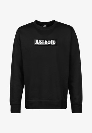 JUST DO IT - Sweatshirt - black / white