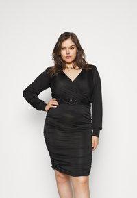 Vero Moda Curve - VMEIRO KNEE DRESS  - Etuikjole - black - 0