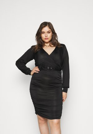 VMEIRO KNEE DRESS  - Shift dress - black