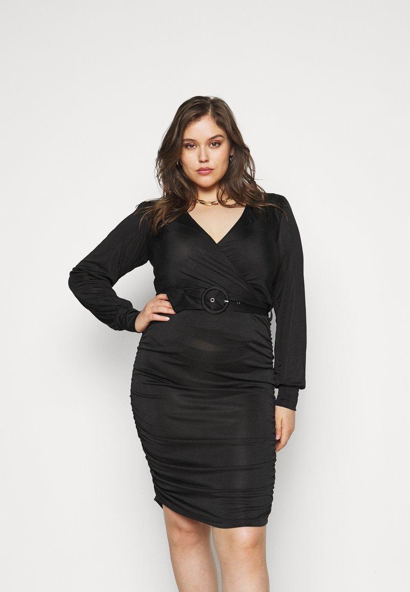 Vero Moda Curve - VMEIRO KNEE DRESS  - Etuikjole - black