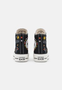 Converse - CHUCK TAYLOR ALL STAR LIFT - Vysoké tenisky - black/vintage white/multicolor - 3