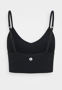Cotton On Body - LIFESTYLE SEAMLESS V NECK CROP - Sports bra - black chevron - 1