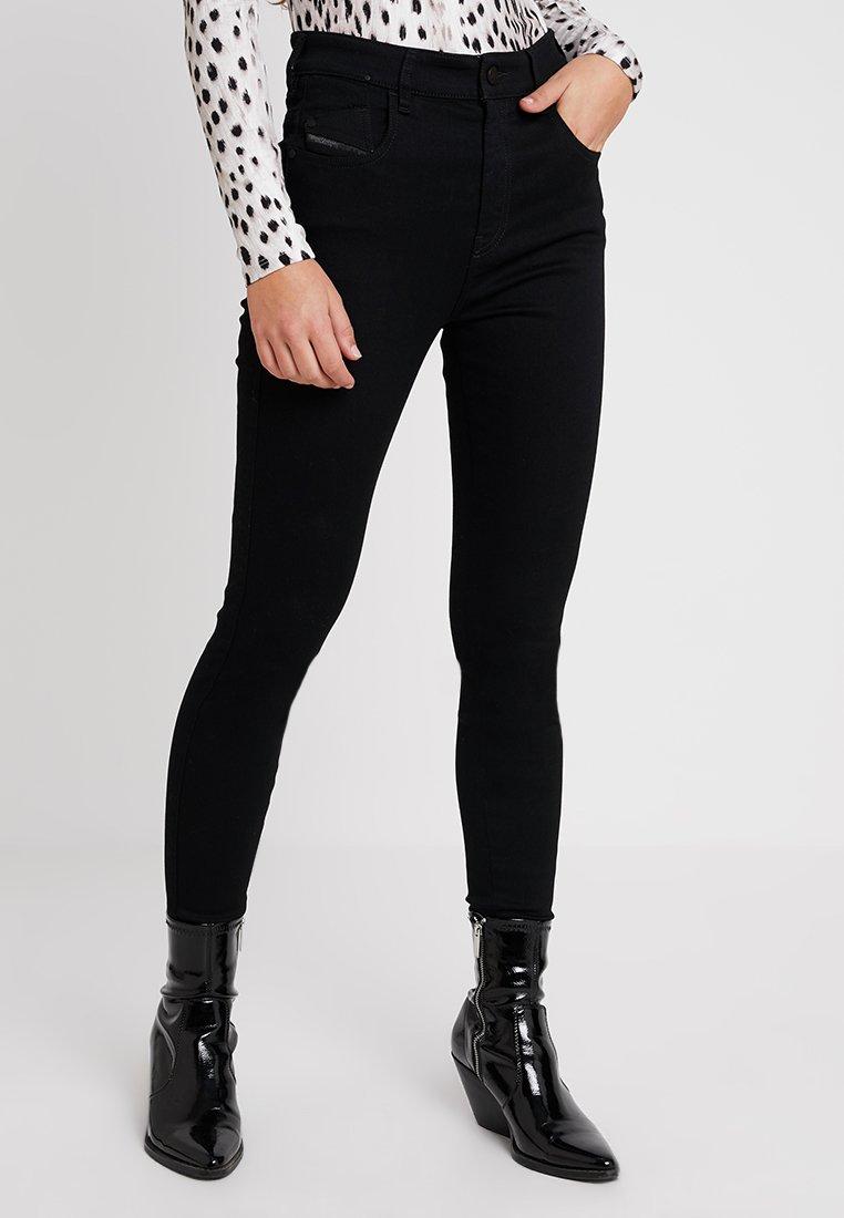 Diesel - SLANDY-HIGH - Jeans Skinny Fit - black