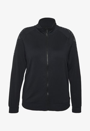 ONPFIONA HIGHNECK ZIP CURVY - Training jacket - black/white