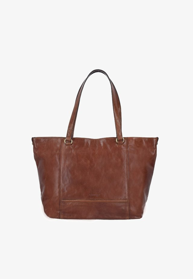 LUGANO  - Shopping bag - cognac
