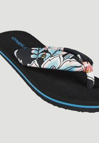 O'Neill - DITSY SUN - T-bar sandals - black with red - 1