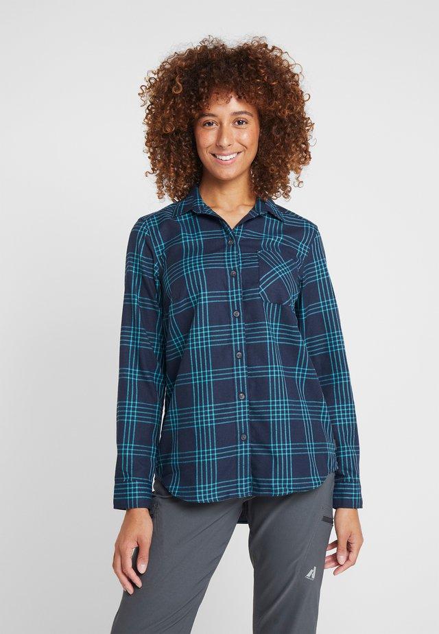 Button-down blouse - mittelindigo