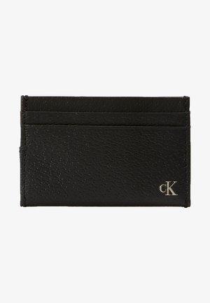 MONOGRAM TEXTURE CARDCASE - Plånbok - black