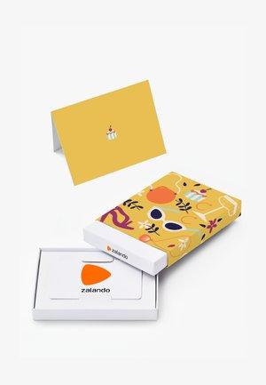 HAPPY BIRTHDAY - Gift card box - yellow