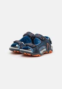 LICO - GOMERA  - Walking sandals - marine/blau/orange - 1