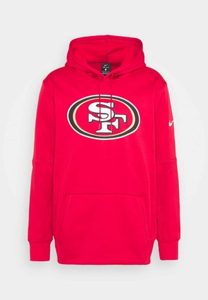 NFL SAN FRANCISCO 49ERS PRIME LOGO HOODIE - Klubové oblečení - gym red
