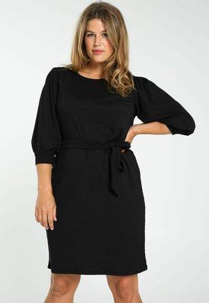 EN CRINKLE UNIE - Jumper dress - black