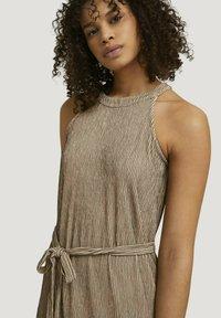 TOM TAILOR DENIM - Maxi dress - beige black structured stripe - 3