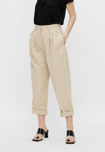 OBJNANCY PANTS - Trousers - humus