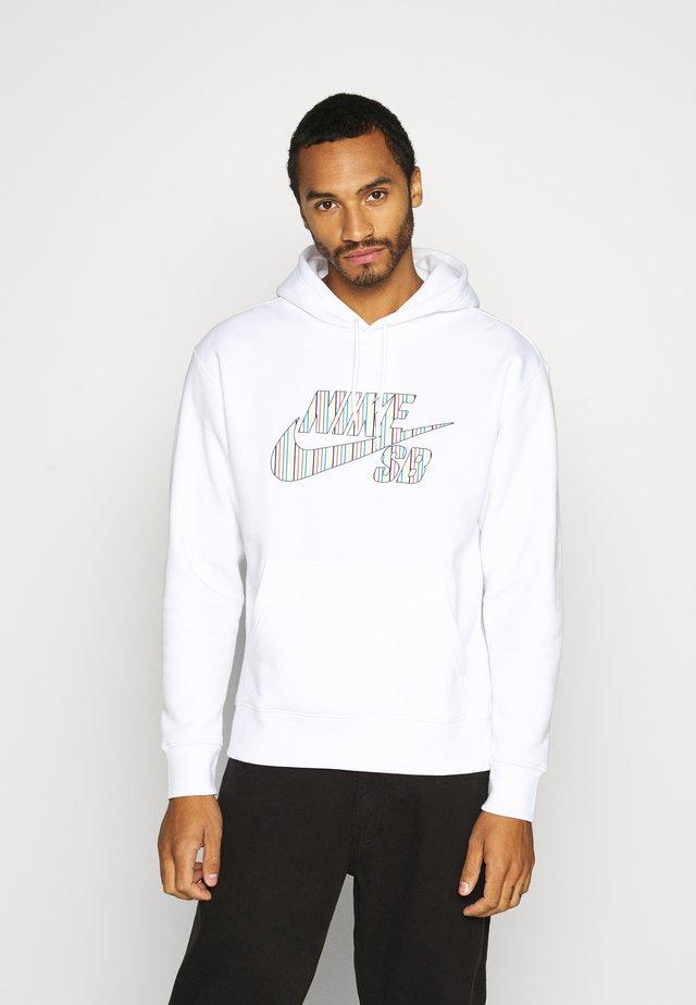 STRIPES HOODIE UNISEX - Bluza z kapturem - white