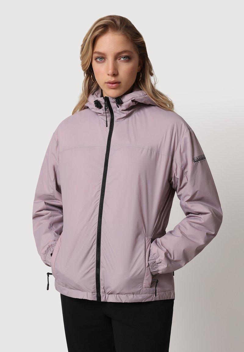 Napapijri - A-CIRCULAR SHORT - Light jacket - sea fog pink