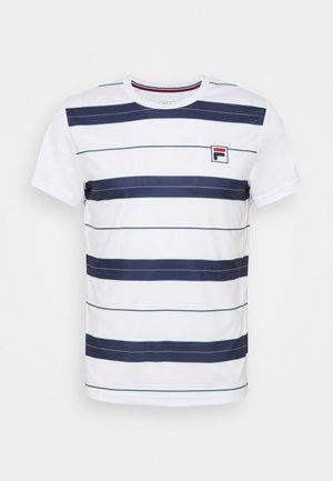 JULIAN - Camiseta estampada - white/peacoat blue