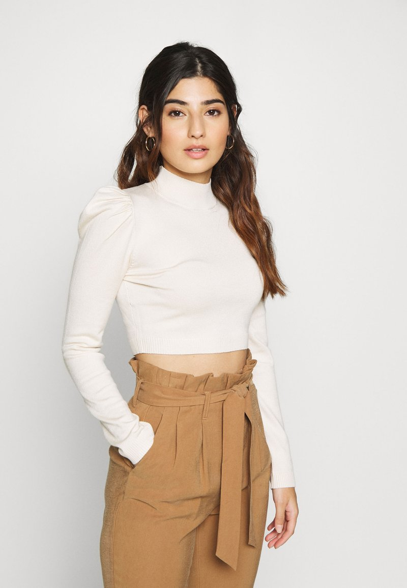 Missguided Petite - PUFF SLEEVE - Jumper - nude