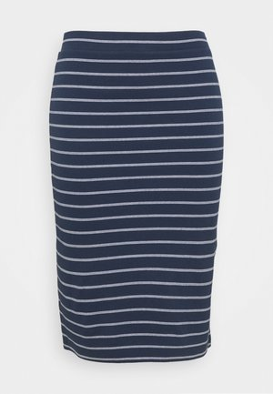 BODYCON STRIPES SKIRT - Pencil skirt - twilight navy/multi