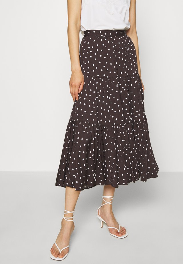HEART SKIRT - Maxi skirt - mole brown