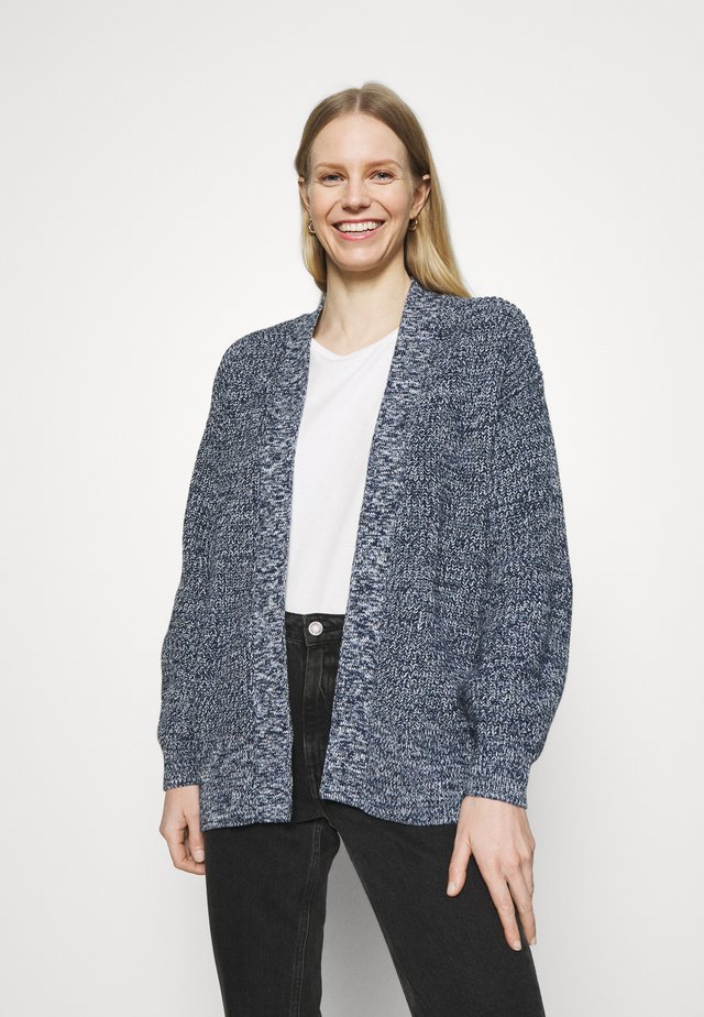 SHAKER SIDE SPLIT OPEN CARDI - Kardigan - navy marl