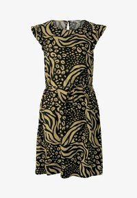 TOM TAILOR DENIM - WITH RUFFLE SLEEVE - Day dress - black animal print - 3