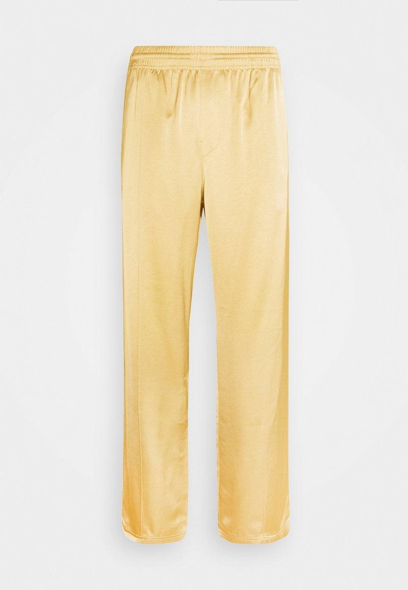 Weekday - KEN STAIN TRACK PANTS UNISEX - Trousers - beige