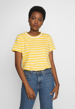 COOL TEE - Basic T-shirt - breton/sunny white