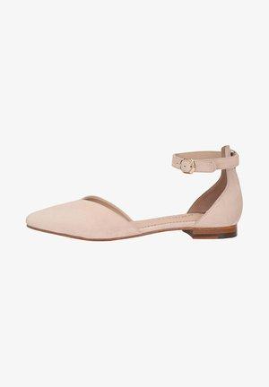 CARRIE - Ankle strap ballet pumps - rose