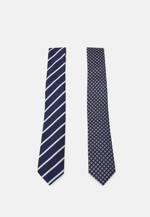 2 PACK - Cravatta - dark blue/white/red