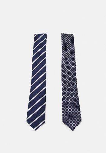 2 PACK - Corbata - dark blue/white/red