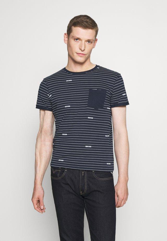 ECKLEY - T-shirt con stampa - navy