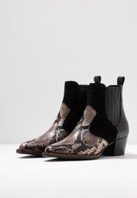 Maripé - Cowboy/biker ankle boot - nero - 4