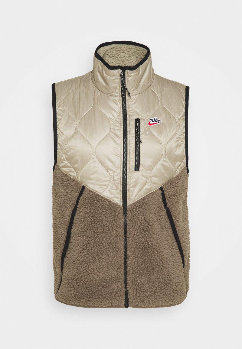 Nike Sportswear - Waistcoat - mystic stone/olive grey/life lime