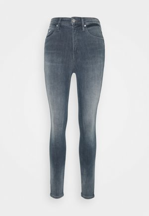 HIGH RISE SUPER SKINNY ANKLE - Skinny džíny - blue grey