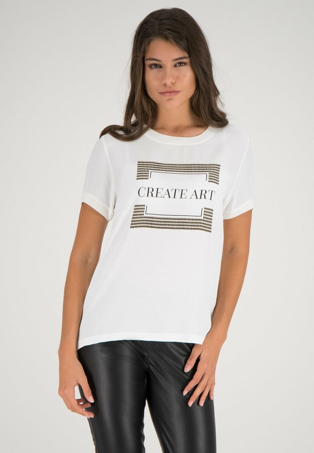 T-shirt print - offwhite multicolor