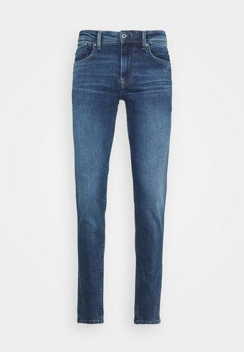 FINSBURY POWERFLEX - Slim fit jeans - blue denim