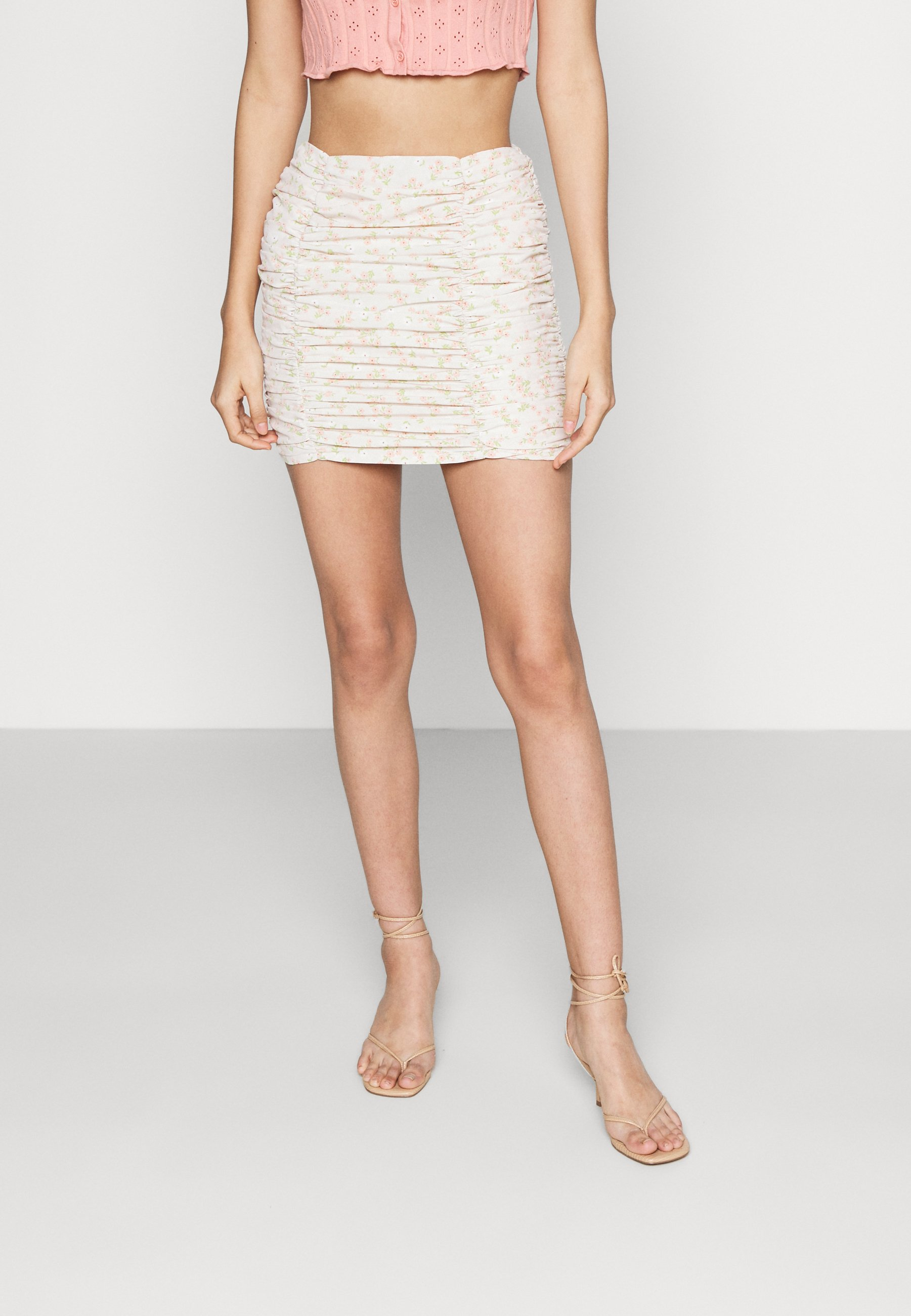 Femme CARE RUCHED - Minijupe - stone/ditsy