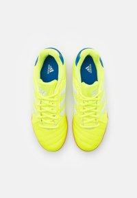 adidas Performance - TOP SALA UNISEX - Indoor football boots - solar yellow/footwear white/glow blue - 3