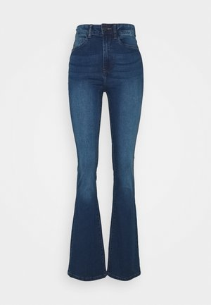 NMSALLIE - Flared jeans - medium blue denim