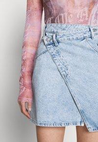 Monki - Mini skirt - light blue - 3